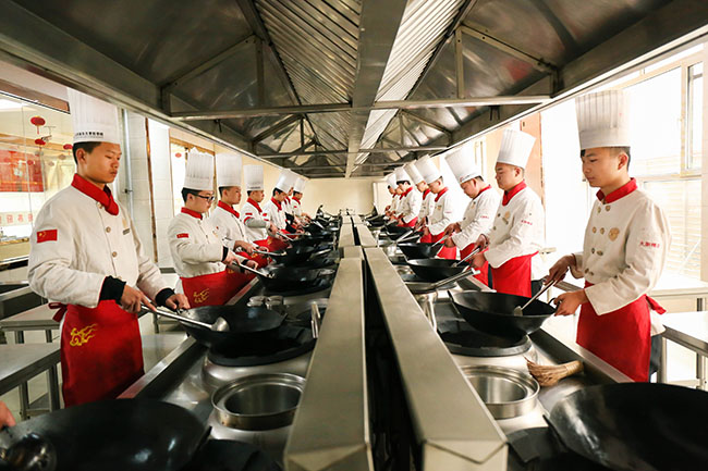 2019来山西新东方学厨师,学生