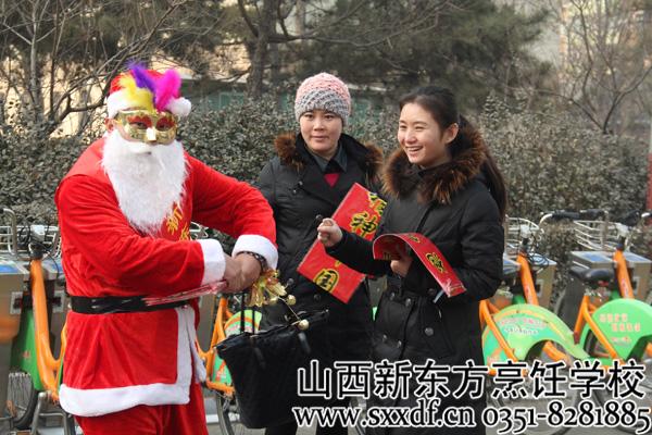 山西/美女无敌的笑容 圣诞老人一样hold不住!