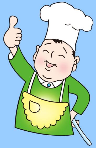 抻面厨师矢量图